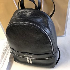 Michael Kors Kenly Black Leather Backpack